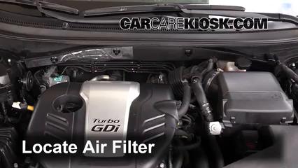 2016 Hyundai Sonata Eco 1.6L 4 Cyl. Turbo Filtre à air (moteur)