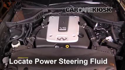 2016 Infiniti Q70 3.7 3.7L V6 Power Steering Fluid Check Fluid Level