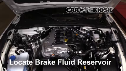 2016 Mazda MX-5 Miata Grand Touring 2.0L 4 Cyl. Brake Fluid