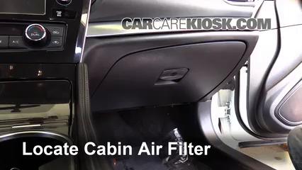 2016 Nissan Maxima SR 3.5L V6 Filtro de aire (interior) Cambio