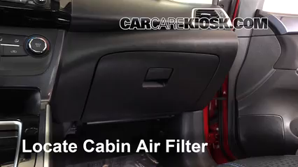 2016 Nissan Sentra FE+S 1.8L 4 Cyl. Air Filter (Cabin) Check