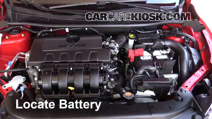 2016 Nissan Sentra FE+S 1.8L 4 Cyl. Battery Replace