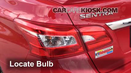 2016 Nissan Sentra FE+S 1.8L 4 Cyl. Lights Tail Light (replace bulb)