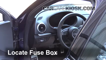 interior fuse box location: 2015-2019 audi s3 - 2017 audi s3 premium plus  2 0l 4 cyl  turbo