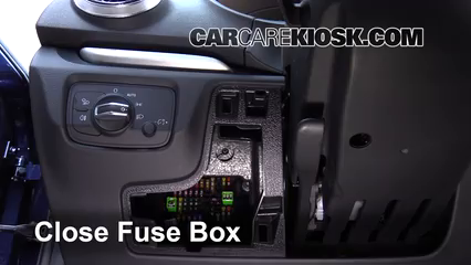 interior fuse box location   audi   audi