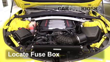 replace a fuse 2016 2018 chevrolet camaro 2017 chevrolet camaro rx-8 supercharger locate engine fuse box and remove cover