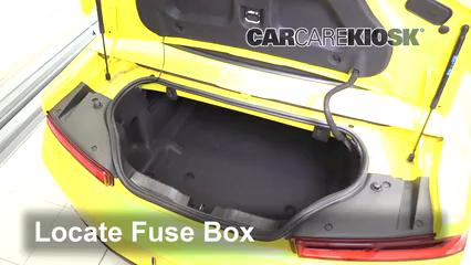 interior fuse box location 2016 2018 chevrolet camaro 2017locate interior fuse box and remove cover