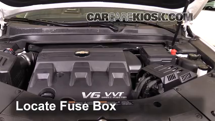 replace a fuse 2016 2017 chevrolet equinox 2017 chevrolet equinoxlocate  engine fuse box and remove cover