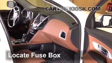 Interior Fuse Box Location: 2010-2017 Chevrolet Equinox