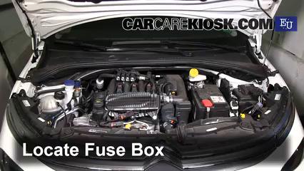 replace a fuse 2017 2018 citroen c3 2017 citroen c3 puretech 1 2l  locate engine fuse box and remove cover 4
