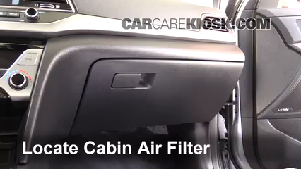 Cabin Filter Replacement: Hyundai Elantra 2017-2019 - 2017 ...
