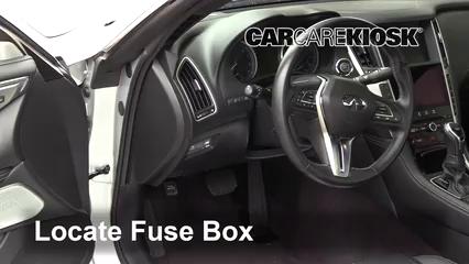 interior fuse box location: 2017-2019 infiniti q60 - 2017 infiniti q60  premium 3.0l v6 turbo  carcarekiosk