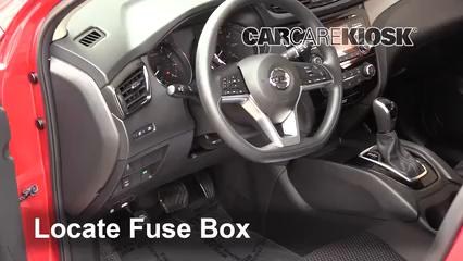 interior fuse box location: 2017-2019 nissan rogue sport - 2017 nissan rogue  sport sl 2.0l 4 cyl.  carcarekiosk