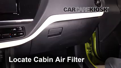 2017 Toyota Corolla iM 1.8L 4 Cyl. Air Filter (Cabin) Check