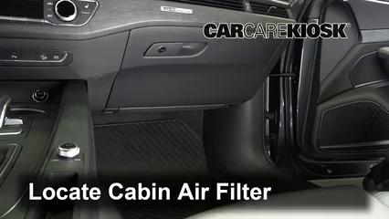 2017 Audi A4 allroad Premium Plus 2.0L 4 Cyl. Turbo Filtro de aire (interior)