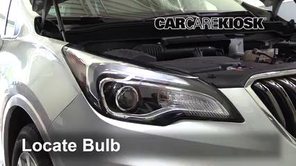 2017 Buick Envision Essence 2.5L 4 Cyl. FlexFuel Luces Faro delantero (reemplazar foco)