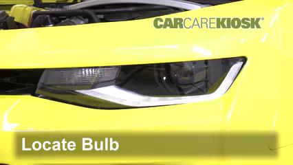 2017 Chevrolet Camaro SS 6.2L V8 Convertible Luces Luz de carretera (reemplazar foco)