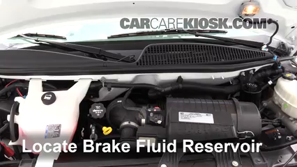2017 Chevrolet Express 2500 4.8L V8 FlexFuel Extended Cargo Van Brake Fluid Check Fluid Level