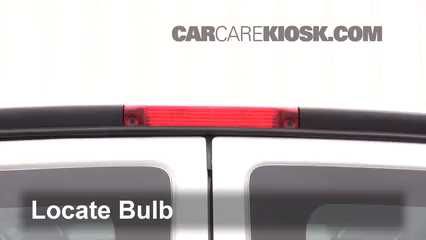 2017 Chevrolet Express 2500 4.8L V8 FlexFuel Extended Cargo Van Lights Center Brake Light (replace bulb)