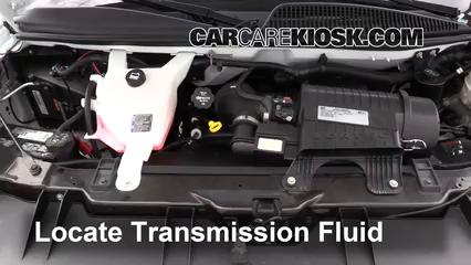 2017 Chevrolet Express 2500 4.8L V8 FlexFuel Extended Cargo Van Líquido de transmisión Controlar nivel de líquido