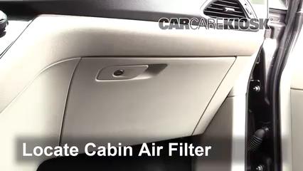 2017 Chrysler Pacifica Touring 3.6L V6 Filtro de aire (interior) Control