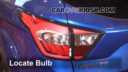 2017 Ford Escape SE 2.0L 4 Cyl. Turbo Lights Tail Light (replace bulb)