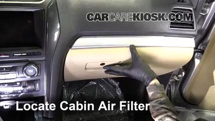 2017 Ford Explorer XLT 3.5L V6 Filtre à air (intérieur)