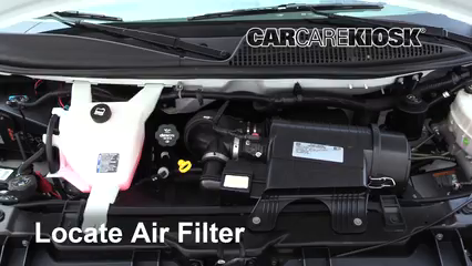 2017 GMC Savana 2500 4.8L V8 FlexFuel Extended Cargo Van Air Filter (Engine) Replace
