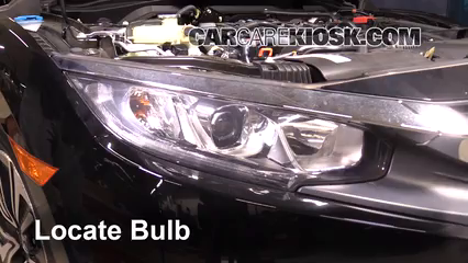 2017 Honda Civic LX 1.5L 4 Cyl. Turbo Coupe Luces Luz de marcha diurna (reemplazar foco)