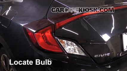 2017 Honda Civic LX 1.5L 4 Cyl. Turbo Coupe Luces Luz de giro trasera (reemplazar foco)