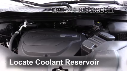 2017 Honda Ridgeline RTL 3.5L V6 Coolant (Antifreeze) Check Coolant Level