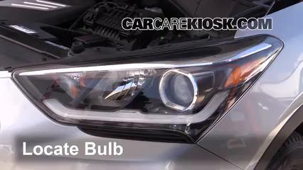 2017 Hyundai Santa Fe SE 3.3L V6 Lights Highbeam (replace bulb)