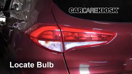 2017 Hyundai Tucson Eco 1.6L 4 Cyl. Turbo Luces Luz trasera (reemplazar foco)