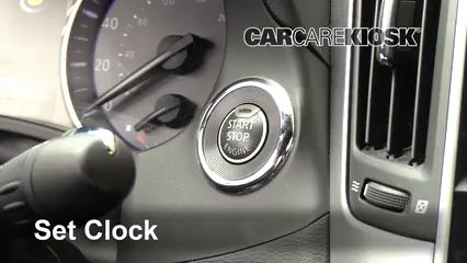 2017 Infiniti Q60 Premium 3.0L V6 Turbo Clock Set Clock