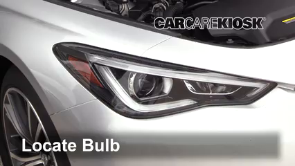 2017 Infiniti Q60 Premium 3.0L V6 Turbo Lights Highbeam (replace bulb)