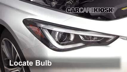 2017 Infiniti Q60 Premium 3.0L V6 Turbo Lights Headlight (replace bulb)