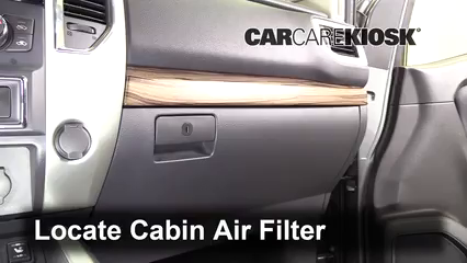2017 Nissan Titan XD SL 5.6L V8 Air Filter (Cabin) Replace