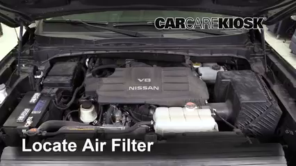 2017 Nissan Titan XD SL 5.6L V8 Air Filter (Engine) Replace
