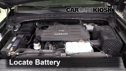 2017 Nissan Titan XD SL 5.6L V8 Battery Replace