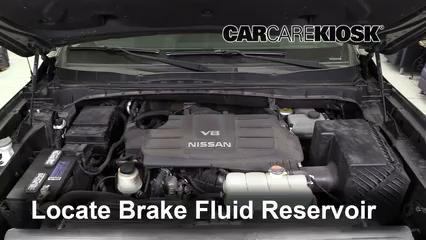 2017 Nissan Titan XD SL 5.6L V8 Brake Fluid Add Fluid