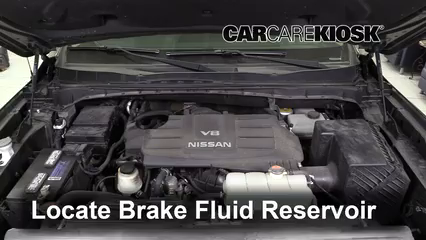 2017 Nissan Titan XD SL 5.6L V8 Brake Fluid Check Fluid Level