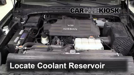 2017 Nissan Titan XD SL 5.6L V8 Coolant (Antifreeze) Add Coolant
