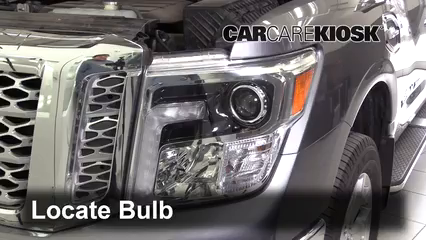 2017 Nissan Titan XD SL 5.6L V8 Lights Highbeam (replace bulb)