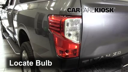2017 Nissan Titan XD SL 5.6L V8 Lights Tail Light (replace bulb)