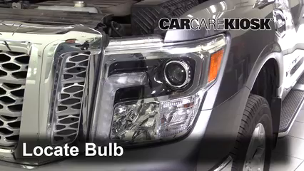 2017 Nissan Titan XD SL 5.6L V8 Lights Turn Signal - Front (replace bulb)