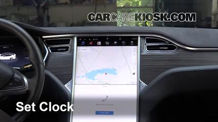 2017 Tesla S 90D Electric Clock