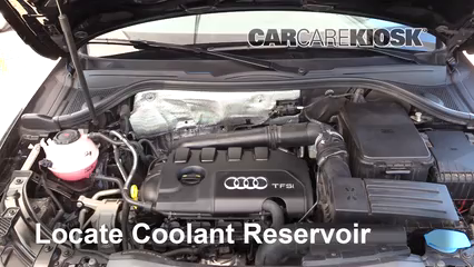 How to Add Coolant: Audi Q3 Quattro (2015-2018) - 2018 Audi Q3 Quattro  Premium 2.0L 4 Cyl. Turbo | Audi Engine Coolant |  | CarCareKiosk