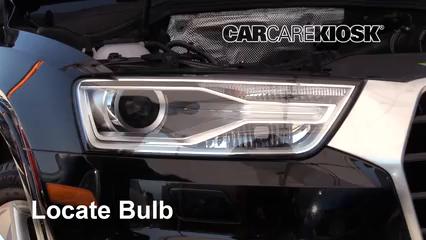 2018 Audi Q3 Quattro Premium 2.0L 4 Cyl. Turbo Éclairage Feux de croisement (remplacer l'ampoule)