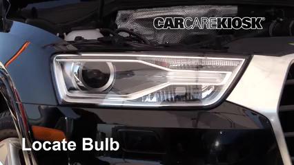 2018 Audi Q3 Quattro Premium 2.0L 4 Cyl. Turbo Éclairage Feu clignotant avant (remplacer l'ampoule)
