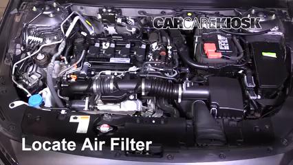 2018 Honda Accord LX 1.5L 4 Cyl. Turbo Filtre à air (moteur)